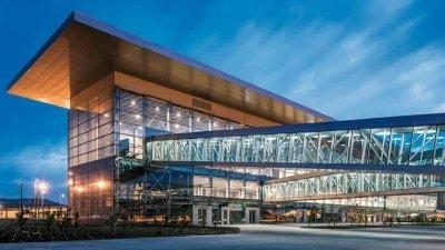 bodrum airport environmental lighting