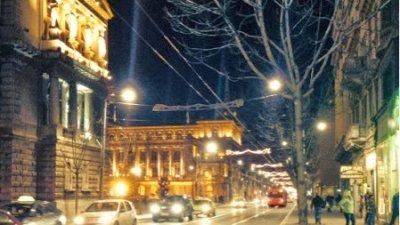 éclairage routier du centre ville de belgrade