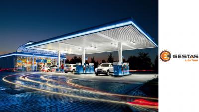gas station beleuchtung belarus - russland