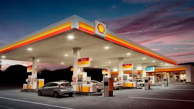 shell cross storage canopy lighting