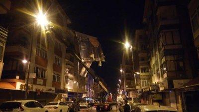 küçükçekmece municipalité éclairage extérieur de la rue hayirli
