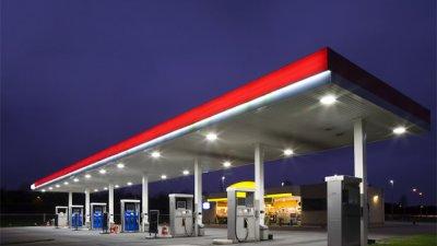 irlanda gas station lighting